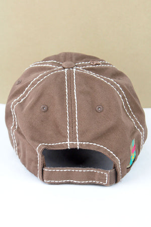 Distressed Mocha 'Cowgirl At Heart' Cap