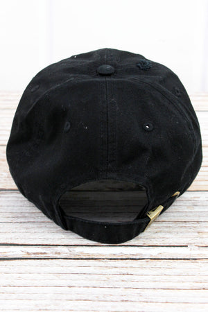Distressed Black with Pink American Flag Tactical Operator Cap