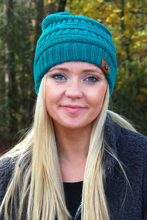 Campfire Cozy Beanie, Turquoise