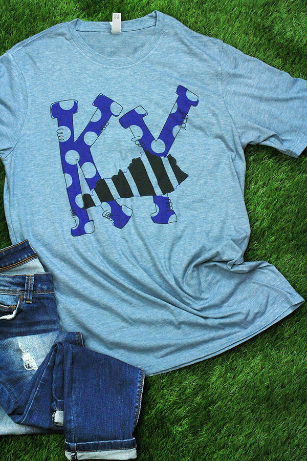 State Kentucky Letters Poly/Cotton Tee