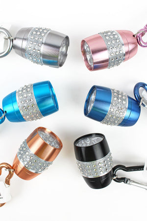 One Mini Crystal Carabiner Flashlight - SHIPS ASSORTED