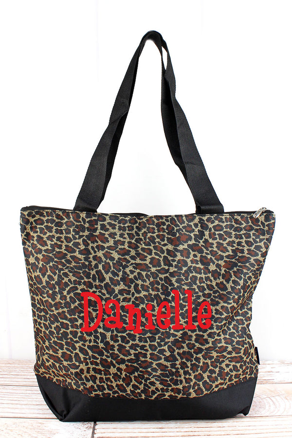 Leopard Love with Black Trim Tote Bag