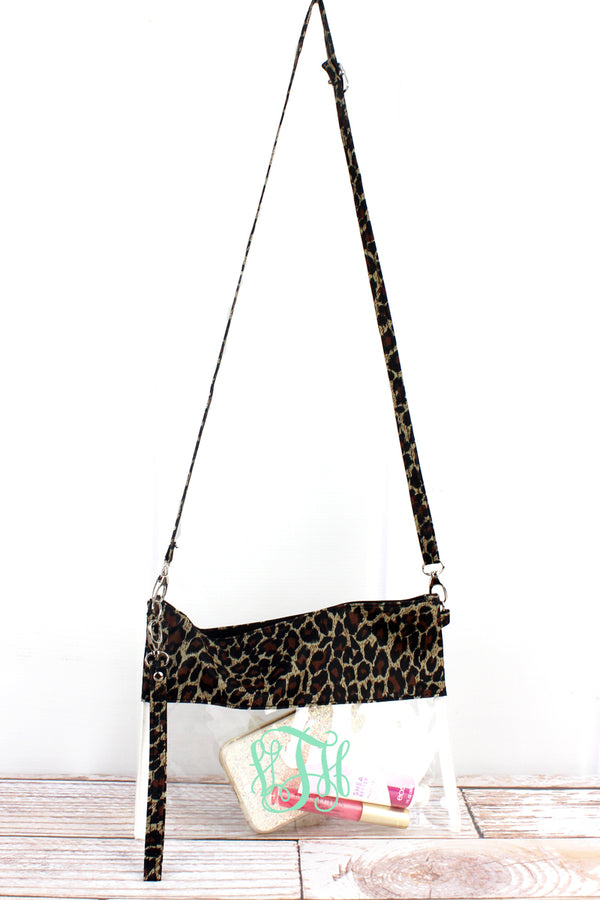 Leopard Love Clear Crossbody Bag