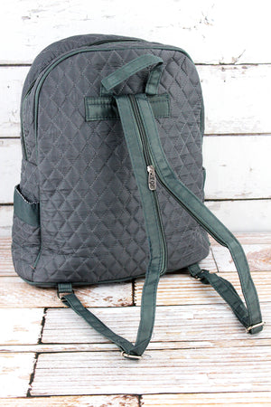 Gray Quilted Backpack