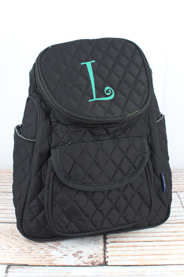 Black Quilted Petite Backpack