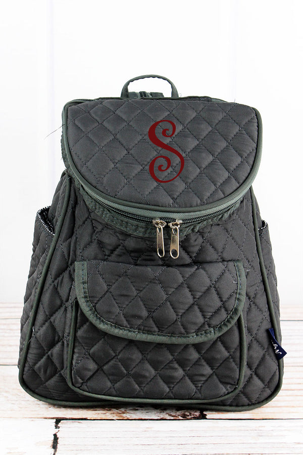 Gray Quilted Petite Backpack