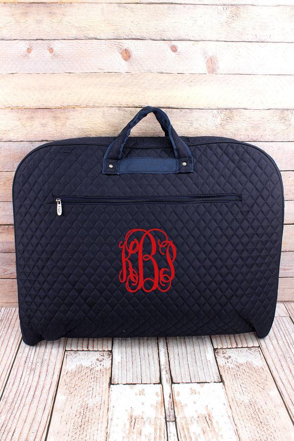 Navy Quilted Garment Bag