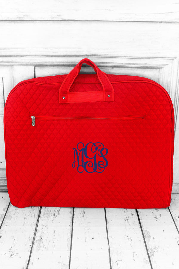 Red Quilted Garment Bag