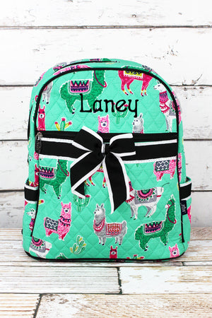 No Prob-Llama Quilted Backpack