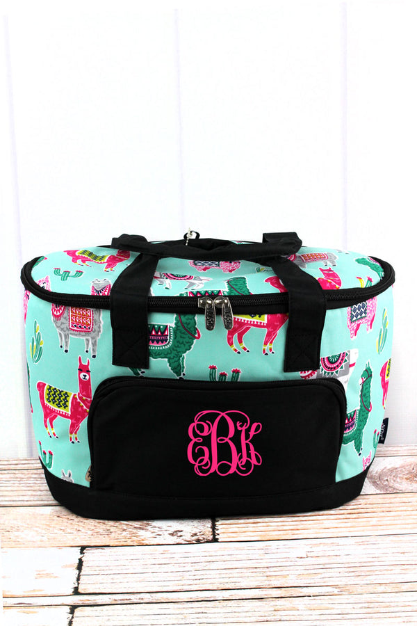 No Prob-Llama and Black Mini Cooler Tote with Lid