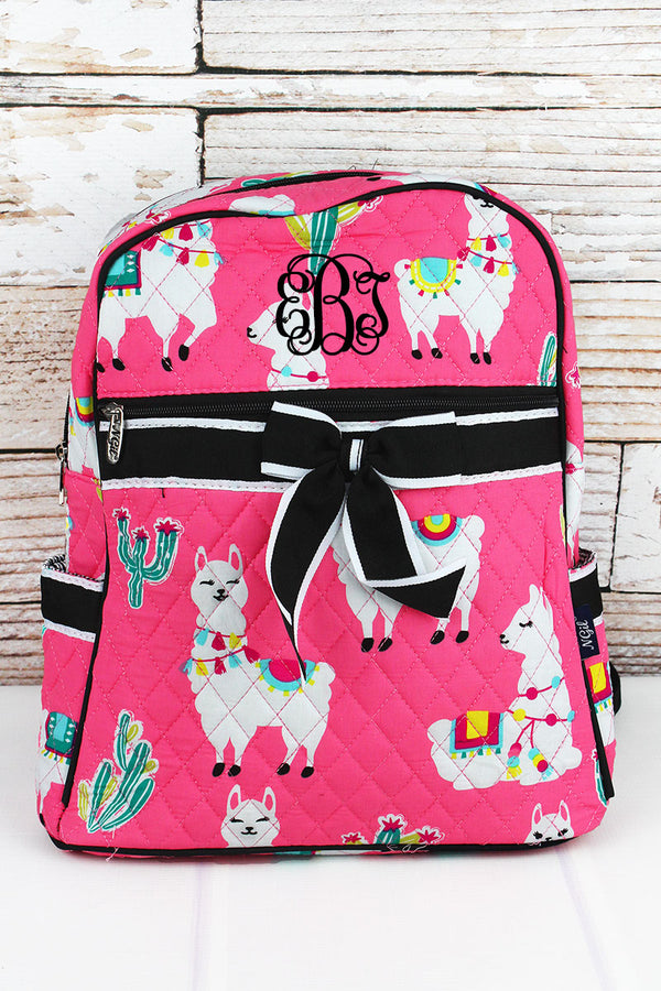 Llovely Llamas Quilted Backpack