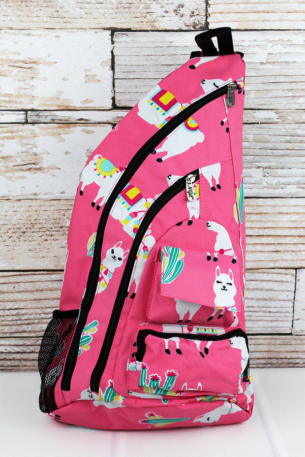 Llovely Llamas Sling Backpack