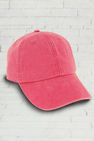Washed Hot Pink Baseball Cap #LP101