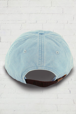 Washed Light Blue Baseball Cap #LP101