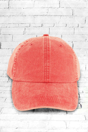 Washed Poppy Baseball Cap