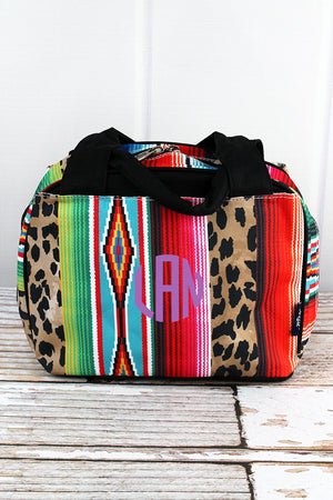 Wild Serape Insulated Bowler Style Lunch Bag with Black Trim