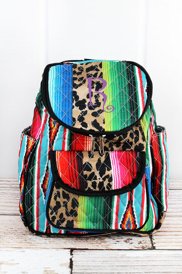 Wild Serape Quilted Petite Backpack