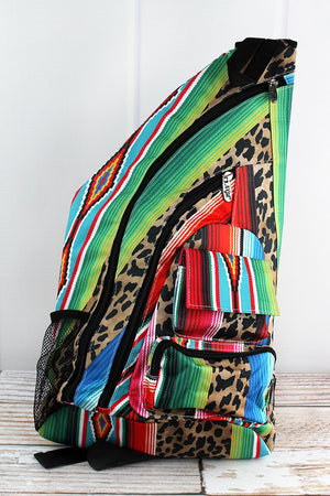 Wild Serape Sling Backpack with Black Trim