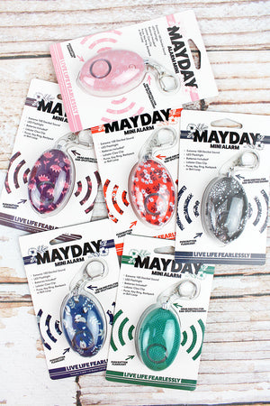 One Fashion Print Mayday Mini Alarm - SHIPS ASSORTED