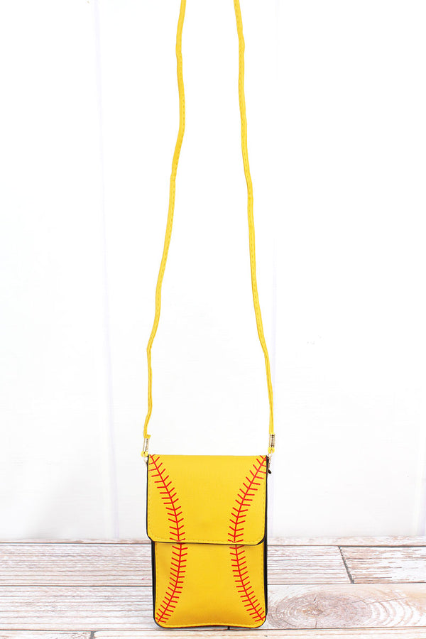 Softball Cell Phone Crossbody