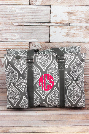 Serene Daze with Gray Trim Large Organizer Tote