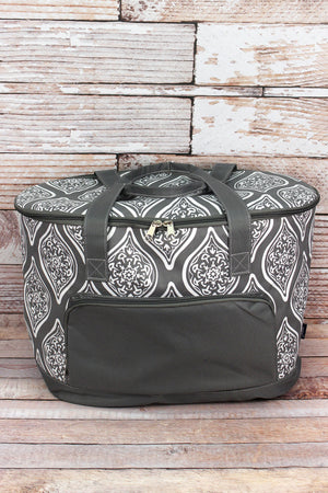 Serene Daze and Gray Cooler Tote with Lid