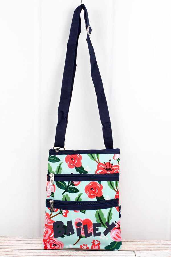 Painted Posies Crossbody Bag