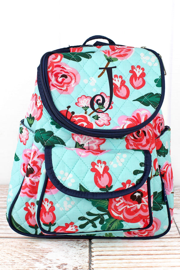 Painted Posies Quilted Petite Backpack