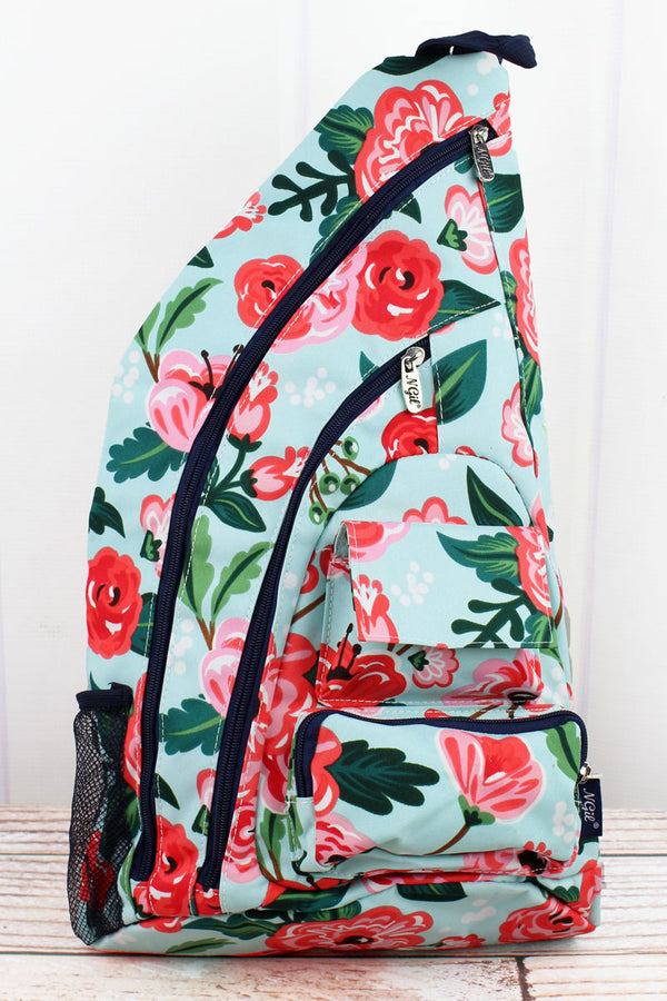 Painted Posies Sling Backpack