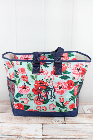 Painted Posies Everyday Organizer Tote
