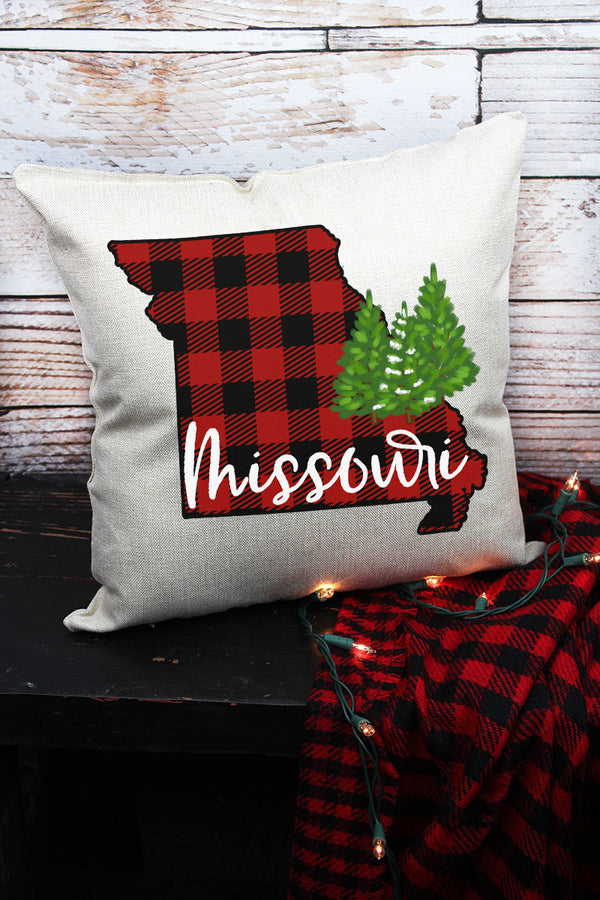 Plaid Missouri Decorative Pillow Cover