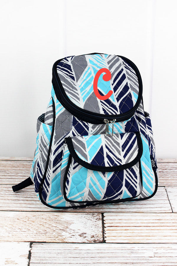 Seaside Stripes Quilted Petite Backpack