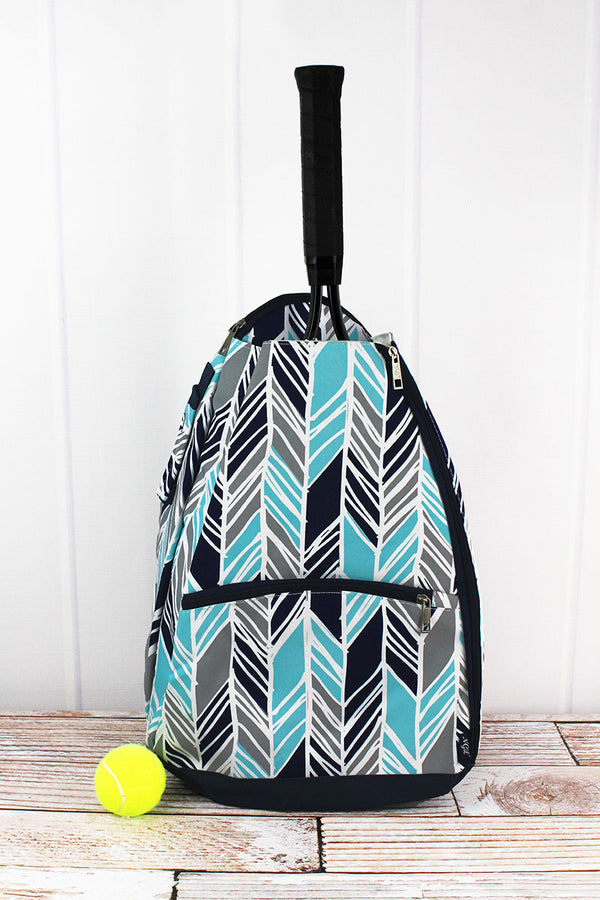 Seaside Stripes Tennis Backpack