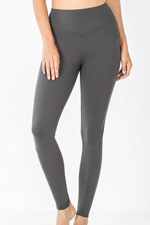 Ash Gray Brushed Wide Waist Butter Leggings