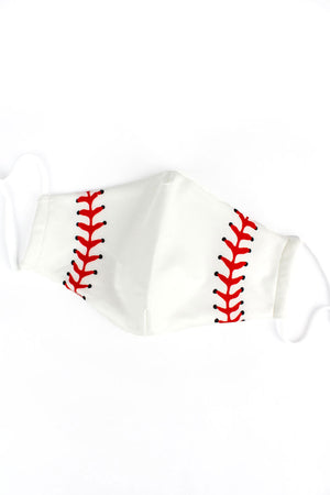 Baseball Two-Layer Fashion Face Mask with Filter Pocket