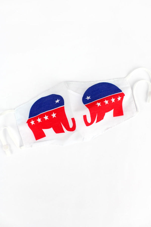 Patriotic Elephant Two-Layer Fashion Face Mask
