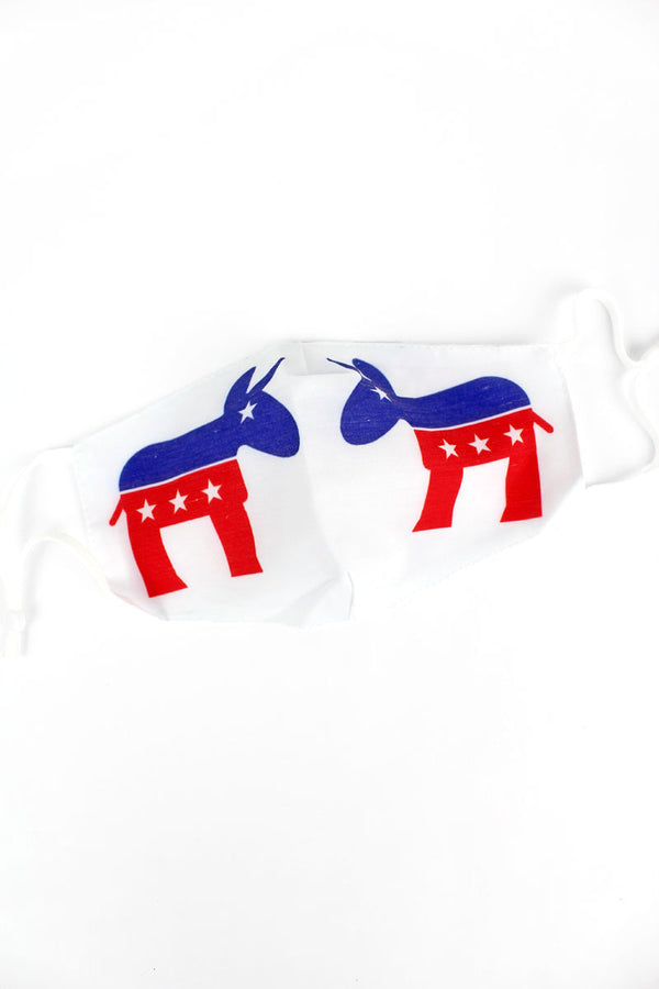 Patriotic Donkey Two-Layer Fashion Face Mask