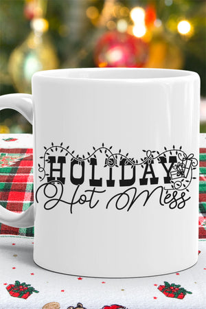Holiday Hot Mess White Mug