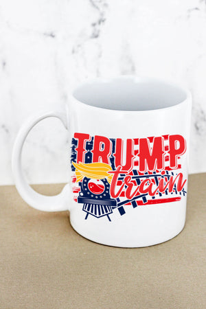 Trump Train Tracks White Mug