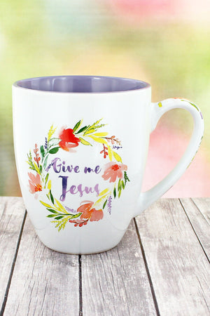 Give Me Jesus Floral Watercolor Mug #MUG424