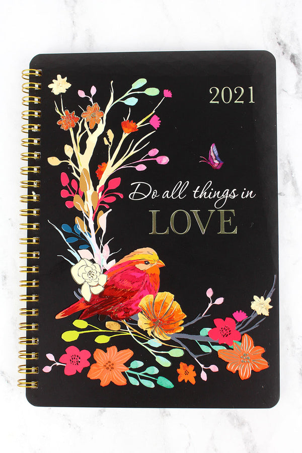 2021 'Do All Things In Love' Wirebound Daily Planner