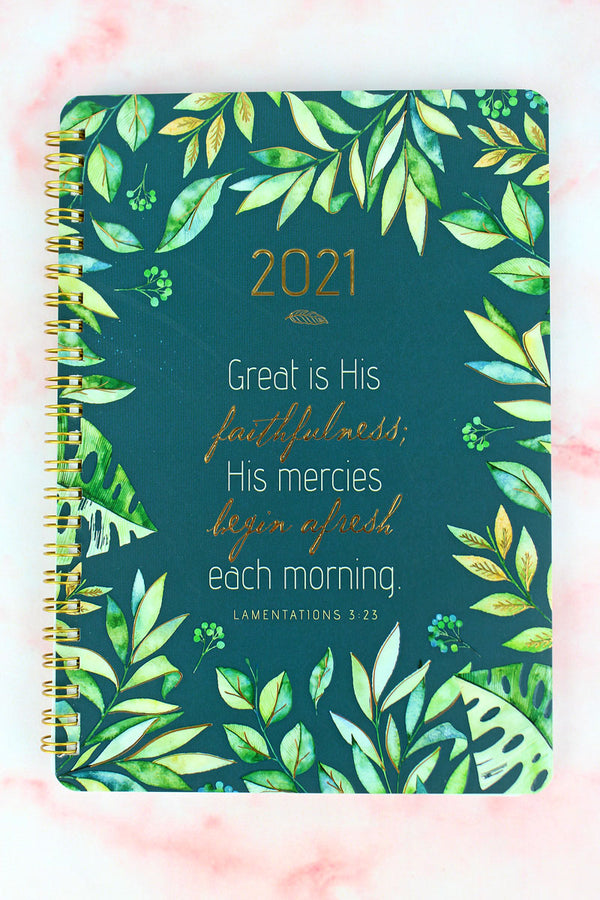 2021 'Great Is His Faithfulness' Wirebound Daily Planner
