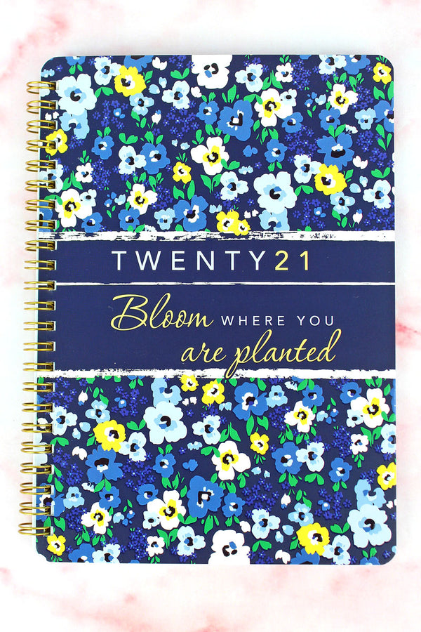 2021 'Bloom Where You Are Planted' Wirebound Daily Planner