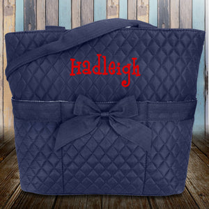 Navy Quilted Diaper Bag #NA2121-NAVY