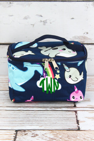 Narwhal Whimsy Case with Navy Trim
