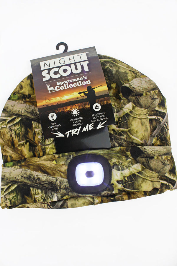 Camo Night Scout LED Sportsman's Beanie