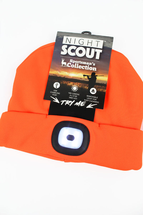 Orange Night Scout LED Sportsman's Beanie