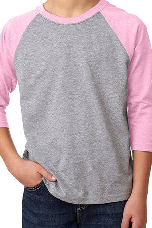 Youth 3/4 Sleeve Raglan #NL3352