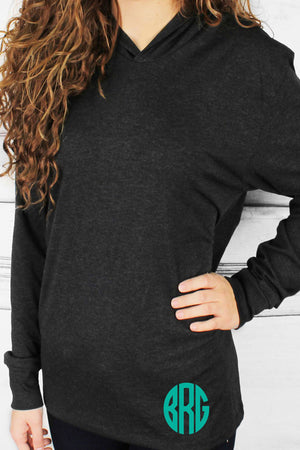 Tri-Blend Unisex Long Sleeve Hoody, Vintage Black *Personalize It!