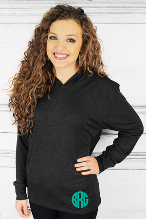 Tri-Blend Unisex Long Sleeve Hoody, Vintage Black #NL6021 *Personalize It!